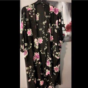 Other - Sheer Floral Robe/Kimono